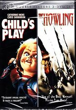 CHILD'S PLAY / THE HOWLING DVD 2 DISCS CLASSIC HORROR DOUBLE FEATURE R1 CHUCKY