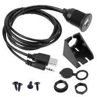 1m USB AUX Auto Einbau Buchse Klinke Adapter Kabel 3,5mm Verlängerung Anschluss