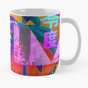 Funny Coffee Mug GLITCH VAPORWAVE 80s Retro Vintage Rainbow Tea Cup Unique Gift