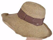 ffd3c41c Gucci Women's straw hat Brown 309138 $435 Wide Brim Floppy Interlocking  Medium