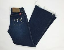 Met mal jeans donna usato bootcut zampa vita alta hot mom w29 tg 42 43 blu T3168
