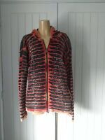 Ladies grunge sweat hoodie jacket, tye dye festival Peace Symbol UK 14/16 VGC