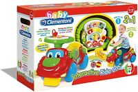 NEW Clementoni Baby Interactive 2 in 1 Ride On Toy Car and Activity Centre