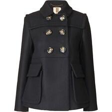 ORLA KIELY Wool Twill Duffle Navy Blue Coat Jacket Uk 6 |Bag Dress Shirt Watch