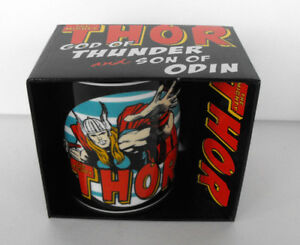 RARE Marvel Ceramic MUG Super Hero The Mighty THOR MINT in Box Germany