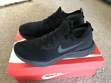 Nike Epic React Flyknit Running Shoes UK Size 9 Triple Black Cost £130 Box