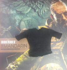 1/6 Hot Toys Iron Man 3 The Mandarin MMS211 Black Shirt Tee *US Seller*