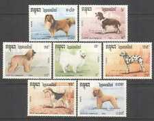 Cambodia 1990 Dogs/Pets/Animals 7v set (b8219)