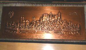 Kupferbild Stadt Nürnberg Alt 1 m x 40 cm gebraucht