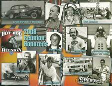 2008 California Hot Rod Reunion Honorees NHRA postcard Gas Ronda Justice Bros.