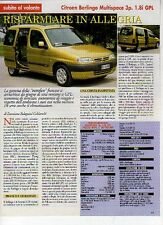 Z11 Ritaglio Clipping 1999 Citroen Berlingo Multispace 3p. 1.8i GPL