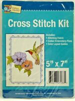 2000s NIP Crafters Square Counted Cross Stitch Embroidery Kit Hummingbird 8383