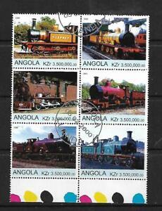 2000 Steam Locomotives block of 6 Fine Used