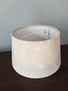 "BEIGE LINEN ON CARD LAMPSHADE 11 1/2"" B X 7 1/2"" TALL X 9 3/4"" TOP"