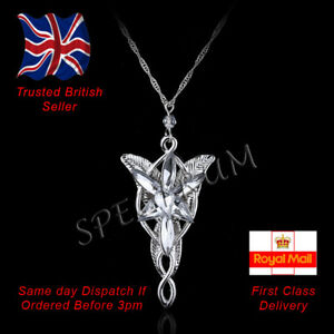 Lord of the Rings Hobbit Arwen Evenstar Pendant Necklace Jewellery 3 Colours