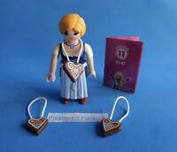 Playmobil Serie 11 Mujer Bavara con corazones Frau im Dirndl Lebkuchenherz  9147