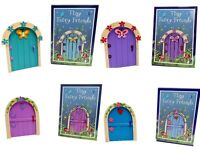 Magical Fairy Door Home or Garden Figurine Ornament Gift 4 Designs Colours