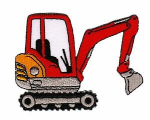 An52 Digger Iron-On Application Patch Children Construction Vehicle DIY