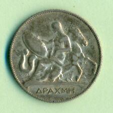 GREECE 1  DRACHMI 1910 HIGH GRADE SILVER
