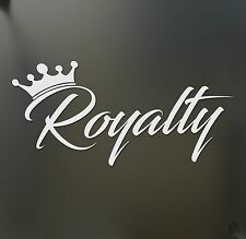Royalty crown sticker JDM !MED! stance Funny drift lowered car windshield decal