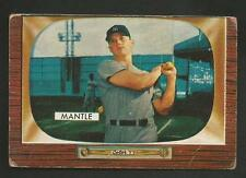 1955 Bowman #202 Mickey Mantle YANKEES Good Looking GD