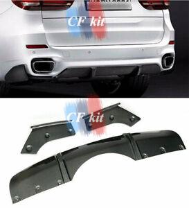 For BMW F15 X5 M-Tech 2014-2019 Carbon Fiber Rear Lip Diffuser Splitters 3PCS