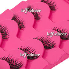 Makeup Eye Beauty 5 Pairs Half Mini False Eyelashes Winged Corner Eye Lashes Set