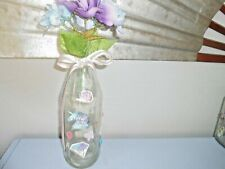 "Handmade Decorative Glass Led Lighted Wine Bottle ""What Ever, Unicorn"""