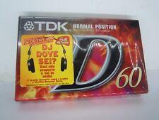 TDK D-60EB Audio Cassetta a nastro NUOVO e SIGILLATO MUSICASSETTA - (VV-2)