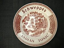 Rare Schweppes Indian Tonic red Tips plate Sarreguemines France