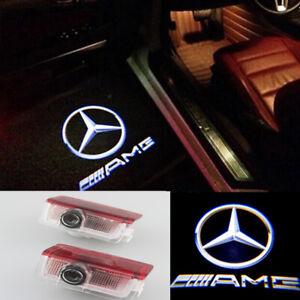 2x LED AMG Logo Laser Projector Door Light For Mercedes-Benz W212 E300 E350 E550