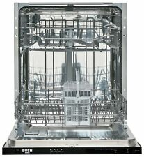 Bush DW12LSINT Integrated 60cm A++ Full Size Dishwasher - White.