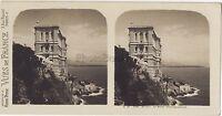 Monaco Il Museo Oceanografico Stereo Vintage Analogica Ca 1910