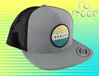 NEW Hurley JJF Bula Mens Gray Snapback Trucker Cap Hat