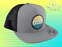 NEW Hurley JJF Bula Mens Gray Snapback Trucker Cap Hat