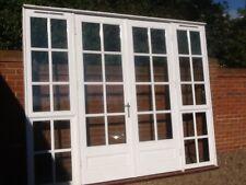 exterior external hardwood double glazed french doors in frame & side windows
