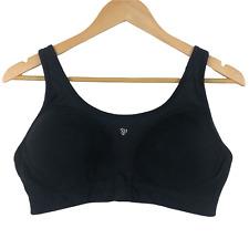 Jockey Women's Comfort Sports Bra Size 38DD Wireless Lined Full Coverage Black