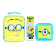 """DISNEY DESPICABLE ME """" MINIONS """" KIDS INSULATED LUNCH BAG / BOTTLE / SNACK BOX"""