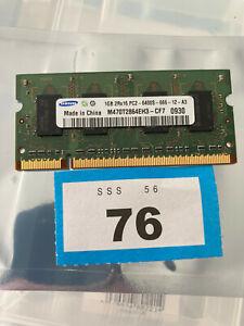 1GB Samsung M470T2864EH3-CF7 PC2-6400S DDR2 200-Pin SODIMM Laptop Memory