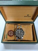 Rolex Men's 40mm Submariner 16613 Two-Tone Black Dial Box and Papers