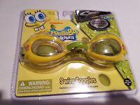 Sharkz Spongebob no leak Yellow Swim goggles youth to adult  NIP