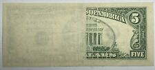 1995 Insufficient Inking Error $5 Federal Reserve Note