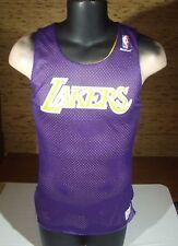 Vintage 1980s Mac Gregor LA Lakers Purpler   Yellow Sand Knit Jersey Small f08bab5e6