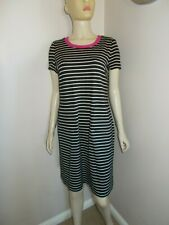 Womens Anne Klein stripe shift dress size 12 UK 40 Eur 8 US