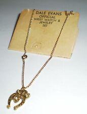Dale Evans Vintage Jewelry – Horseshoe Pendant Necklace (circa 1950s)
