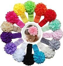 NEW Qandsweet Baby Girl's Headbands Chiffon Hair Bow 15 Pack FREE SHIPPING
