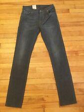 "Nudie Jeans ""Thin Finn"" Gray Denim Slim Fit Jeans, Size 30, NWT! $199"