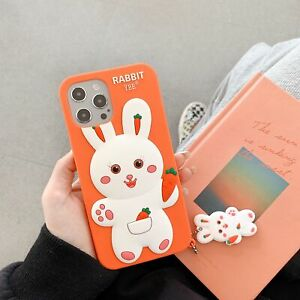 """3D Cute Cartoon Rabbit Kids Soft Silicone Case Cover for iPhone12 / 12 Pro 6.1"""""""