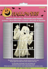 Halloween Spooky Party Supplies 1 x Ghost & Eyes Window Silhouette Decorations