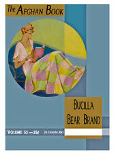 Bear Brand & Bucilla #53 c.1930 - Afghan Book Vintage Crochet Patterns in Color